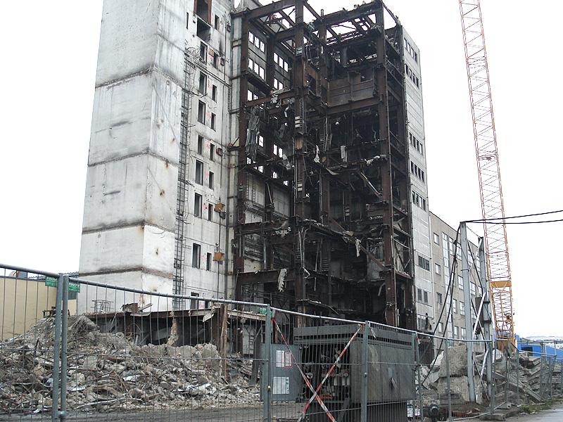 Rückbau des Siemens Kohlekraftwerks (Berlin-Lichtenberg, Deutschland)