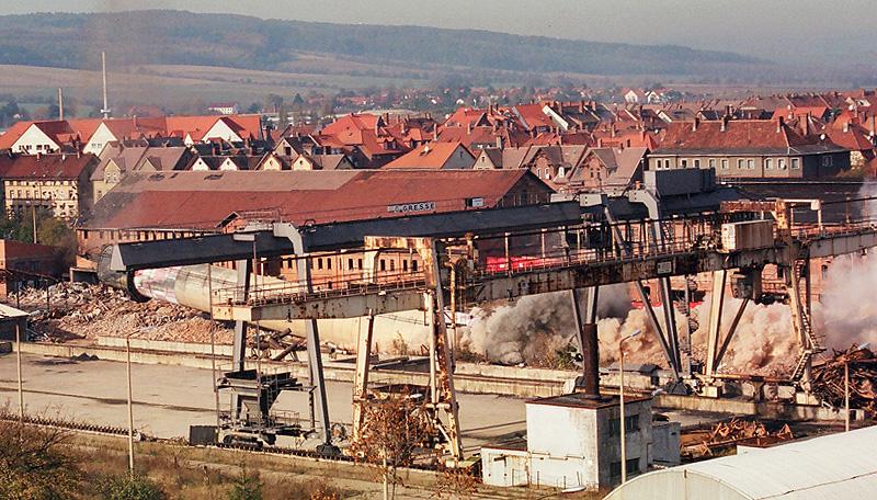 Rückbau eines Kohlekraftwerks inkl. Sprengung (Thüringen, Deutschland)