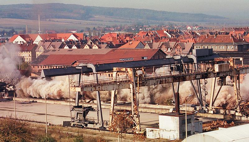 Rückbau eines Kohlekraftwerks inkl. Sprengung (Thüringen, Deutschland)ftwerk